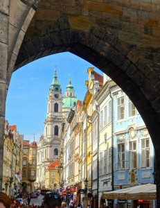 Heading up to the Prague Castle