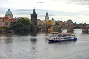 Busy Vltava River