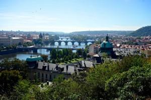 Bridge view of Prague