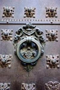 Medieval doorknobs abound in Barcelona