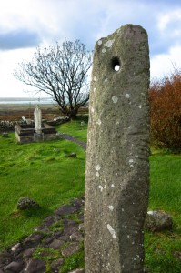 Ogham stone where we touched thumbs through the hole renewing our marriage vows