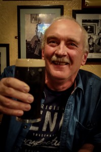 Raising his glass in friendship in Galway