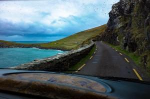 The 2-way road around the Dingle Peninsula