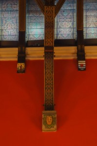 Incredible medieval carvings on the ceiling