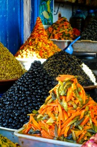 Lots and lots of olives and pickled vege at the markets