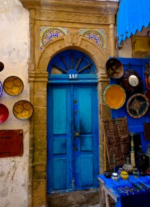 Colorful souk in the medina