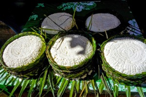 Yum - fresh goat cheese from the nearby Rif Mountains