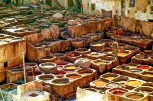 The famous and stinky Fez tannery