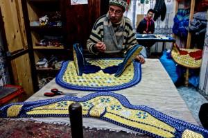 Traditional hand-sewn riding tack
