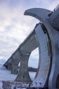 Falkirk Wheel is the only rotary canal connector in the world - innovative!