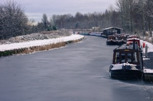 The frozen Forth and Clyde Canal was imperative in the Industrial Revolution