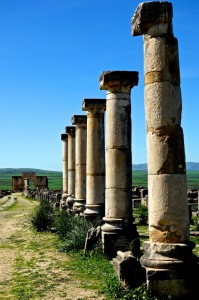 Great Ionic columns line the Roman Road