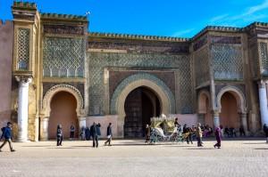 Bab El Mansour gate in Meknes