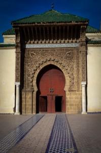 Dar El Makhzen Palace door