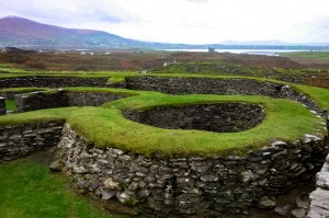 Another ancient fort likely protecting several farming families