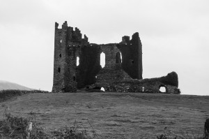 Ballycarbery Castle ruins outside of Caherciveen