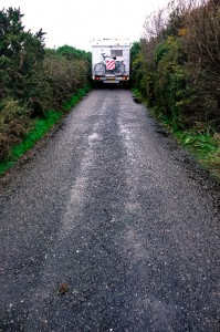 On the road from Ballycarbery Castle