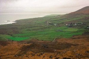 Overlooking an ancient ring fort on the Kerry Ring Road