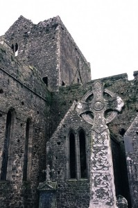 High Cross and cathedral at the Rock of Cashel