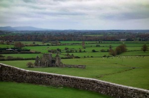 Looking over the ruins of Hore Abbey from the Rock of Cashel