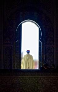 Guarding the tomv of Mohammed V