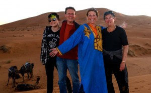 Loving the Sahara with our trustworthy transport below